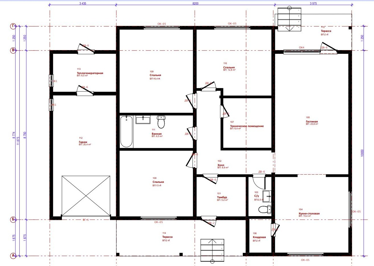 Общая площадь дома (м2)